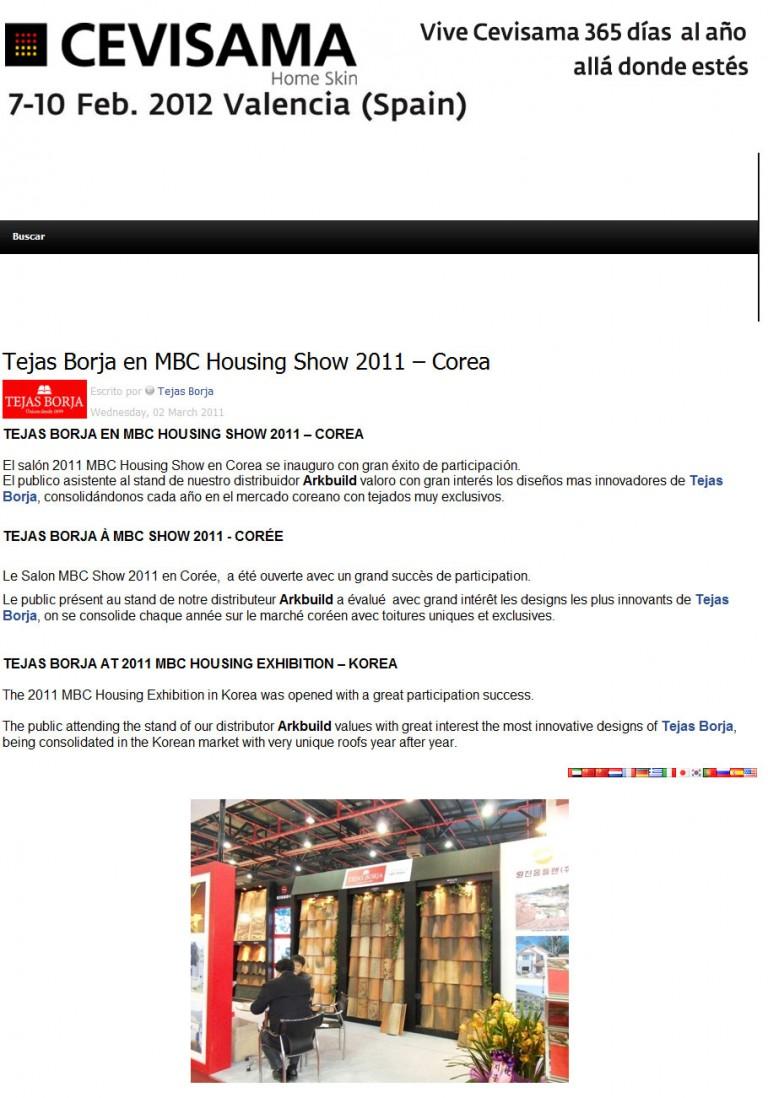 Tejas Borja en MBC Housing Show 2011 – Corea