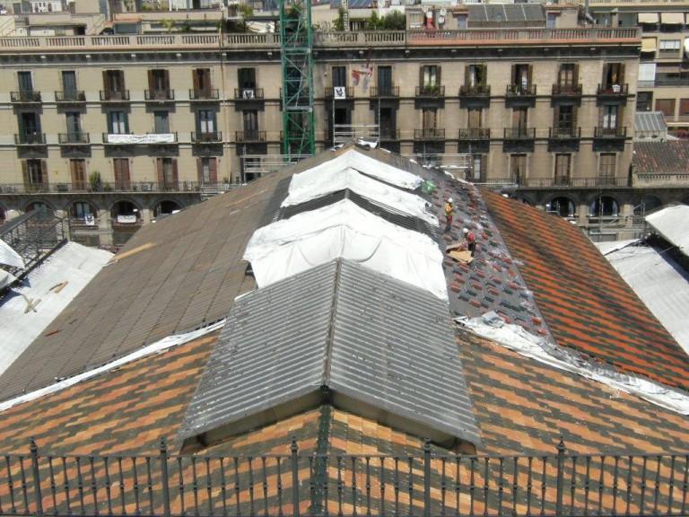 MercatDelBorn-Barcelona-Colocación-tejas