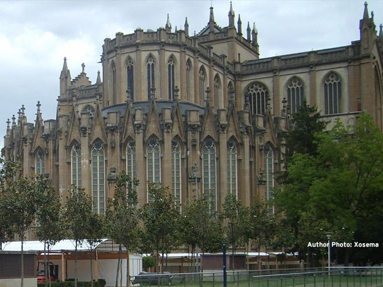 Abside de la Nueva Catedral de Vitoria Alava