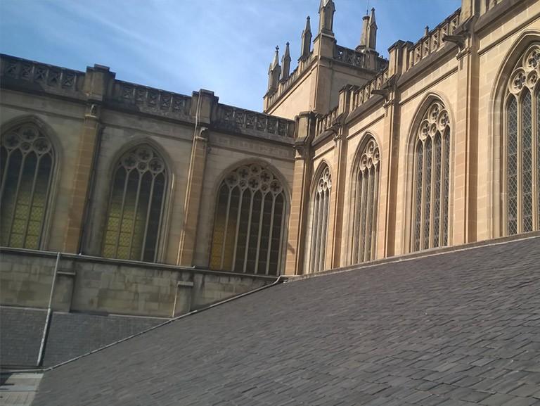 Cubierta original de pizarra – Catedral María Inmaculada, Madre de la Iglesia (Catedral Nueva)
