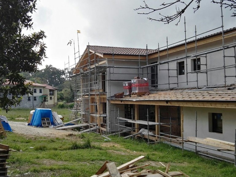 Construction du plus grand hôtel bio-passif en bois d'Espagne
