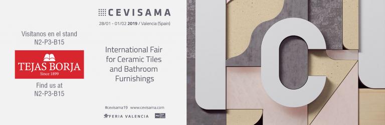 Venez nous rendre visite durant  le salon Cevisama 2019 | Tejas Borja