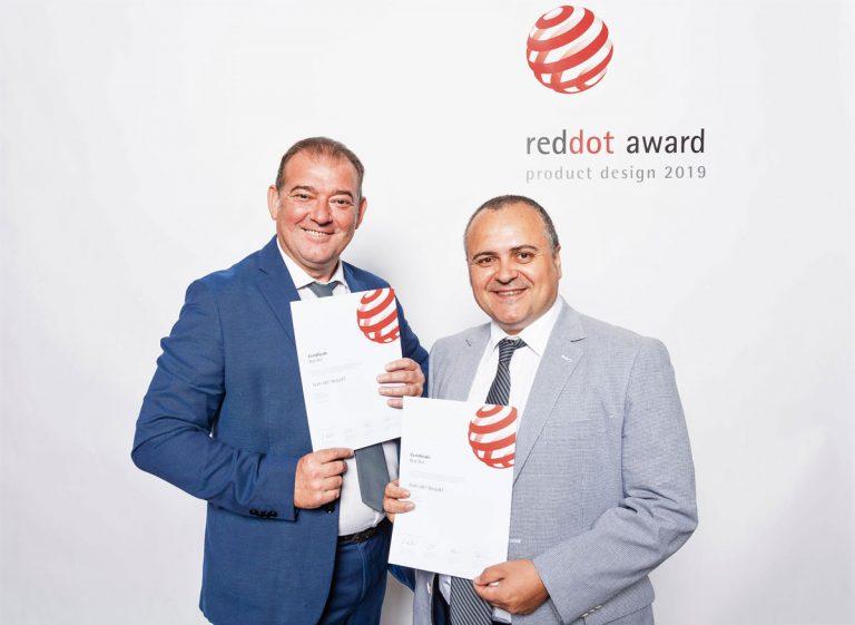 Tejas Borja recoge el Premio Red Dot: Diseño de Producto